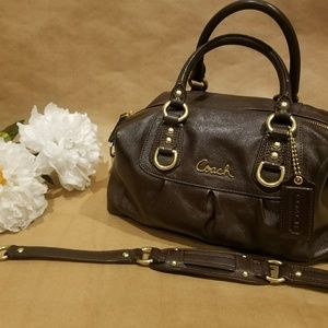 COACH leather brown bag